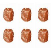 6 BLOCOS DE SAL ROSA DO HIMALAIA EM BLOCO DE 2,5 KG - USO ZOOTÉCNICO
