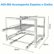 SUPORTE FIXO INOX AGI-500