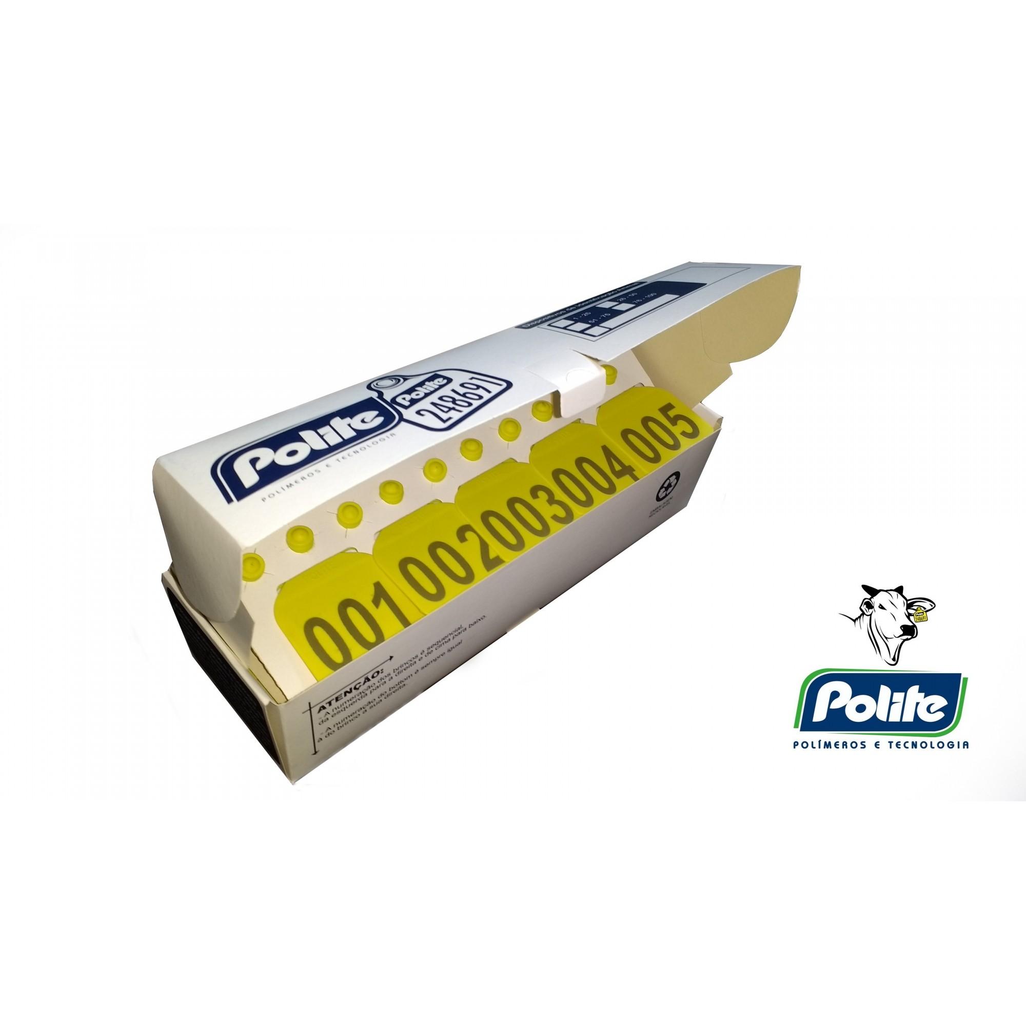 Cj Brinco Grande Bovino Personalizado (Nome, logomarca, desenho) para Manejo de Gado e Macho com Ponta Metalica