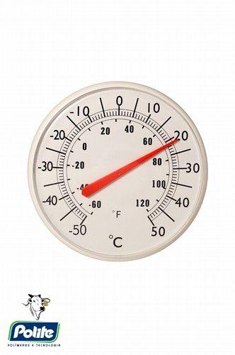 Termometro para aviario bimetalico redondo grande