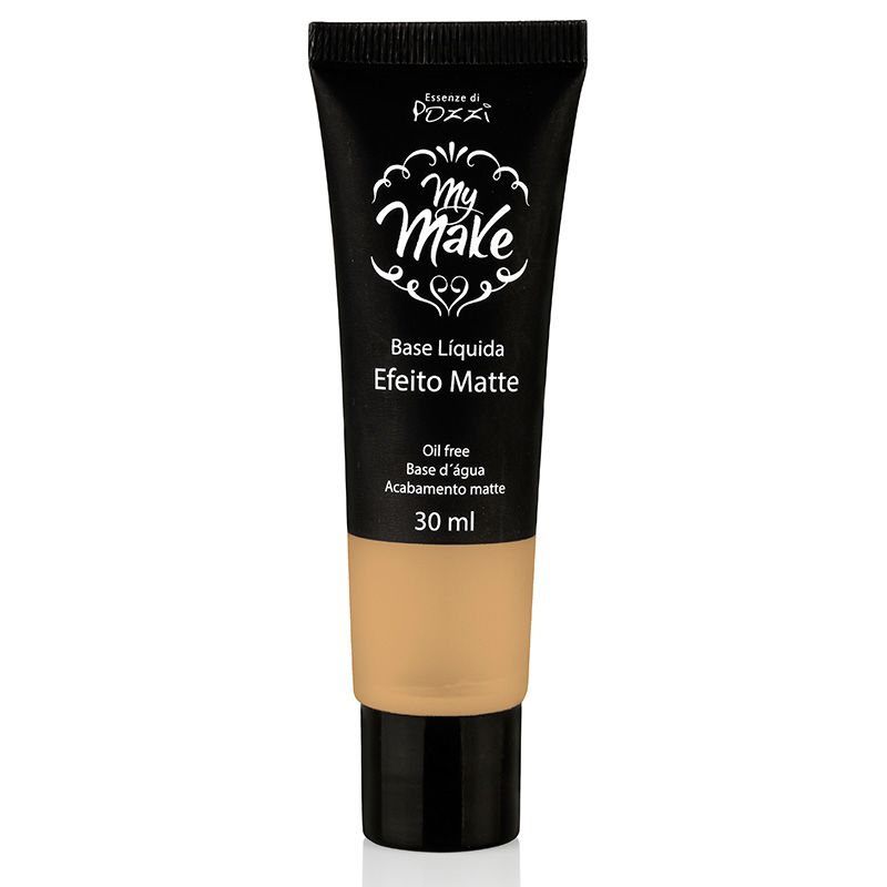 Base Líquida Matte My Make N-130 - Bege  - Essenze di Pozzi