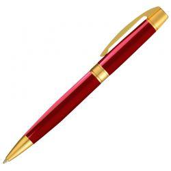 Caneta Crown Master Gold Esferográfica Vermelha YW19968V
