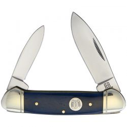 Canivete Rough Rider Canoe Blue  Bone 9.2 cm RR1949