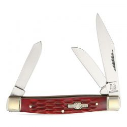 Canivete Rough Rider Stockman Red Bone 8.3 cm RR291