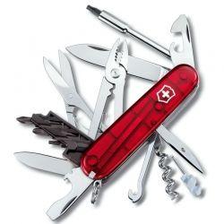 Canivete Victorinox Cyber Tool 34 funções vermelho translucido 9.1 cm 1.7725.T