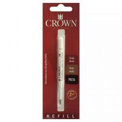 Carga  Crown Preta Esferográfica Gel padrão Parker CA17004P