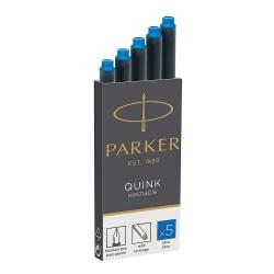 Cartucho Parker Quink Azul Claro para caneta tinteiro 5 un 3016031PP