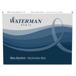 Cartucho Waterman Azul Escuro para caneta tinteiro 8 un S0110910
