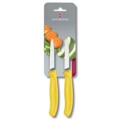 Conjunto de Facas Victorinox amarela para legumes lamina 8 cm 6.7606.L118B