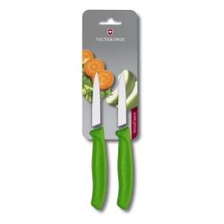 Conjunto de Facas Victorinox verde para legumes lamina 8 cm 6.7606.L114B