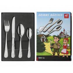 Conjunto faqueiro infantil Zwilling Grimm's 4 peças 70102-100