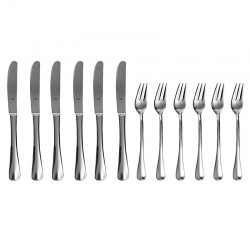 Conjunto Garfo e faca de sobremesa Zwilling BSF Baguette avulso 21788-001