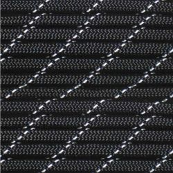 Corda de Nailon Paracord 550 Reflective Black por metro ATRS01