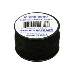 Cordão de Nailon Micro Cord Black 1.18 mm x 37 m ATMS01
