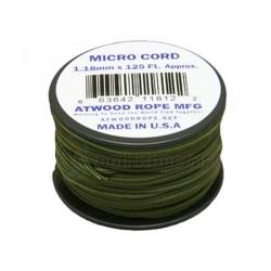 Cordão de Nailon Micro Cord Olive Drab 1.18 mm x 37 m ATMS14