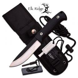 Faca Elk Ridge Survival Black 26.5 cm ER555BK