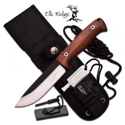 Faca Elk Ridge Survival Brown 26.5 cm ER555PW