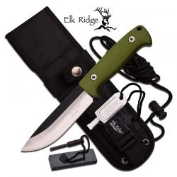 Faca Elk Ridge Survival Green 26.5 cm ER555GN