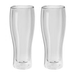 Jogo de Copos de Vidro Zwilling Sorrento Parede Dupla Para Cerveja 414 ml 39500-214
