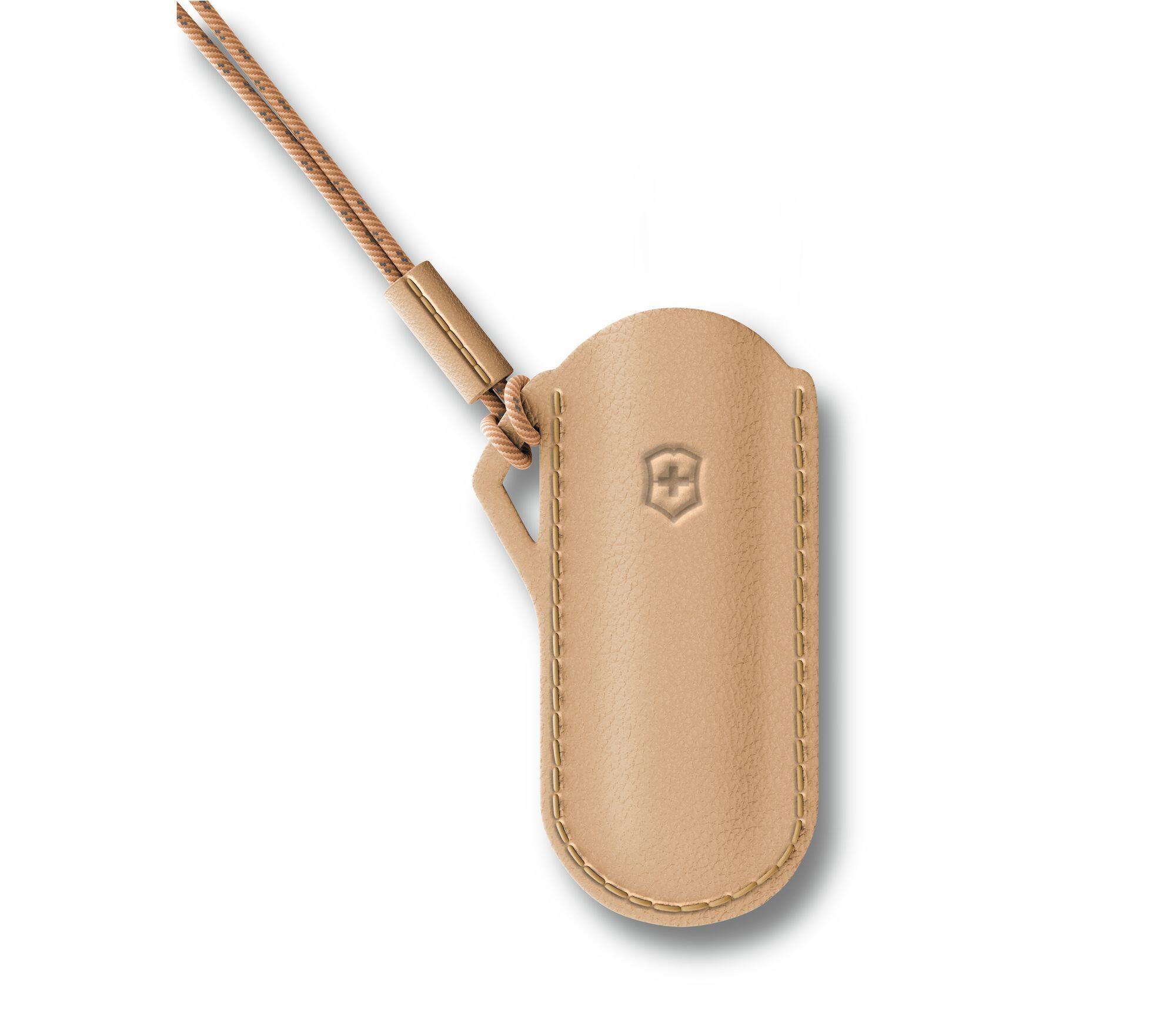 Bainha Victorinox em couro para canivete Classic SD Wet Sand 4.0670.49