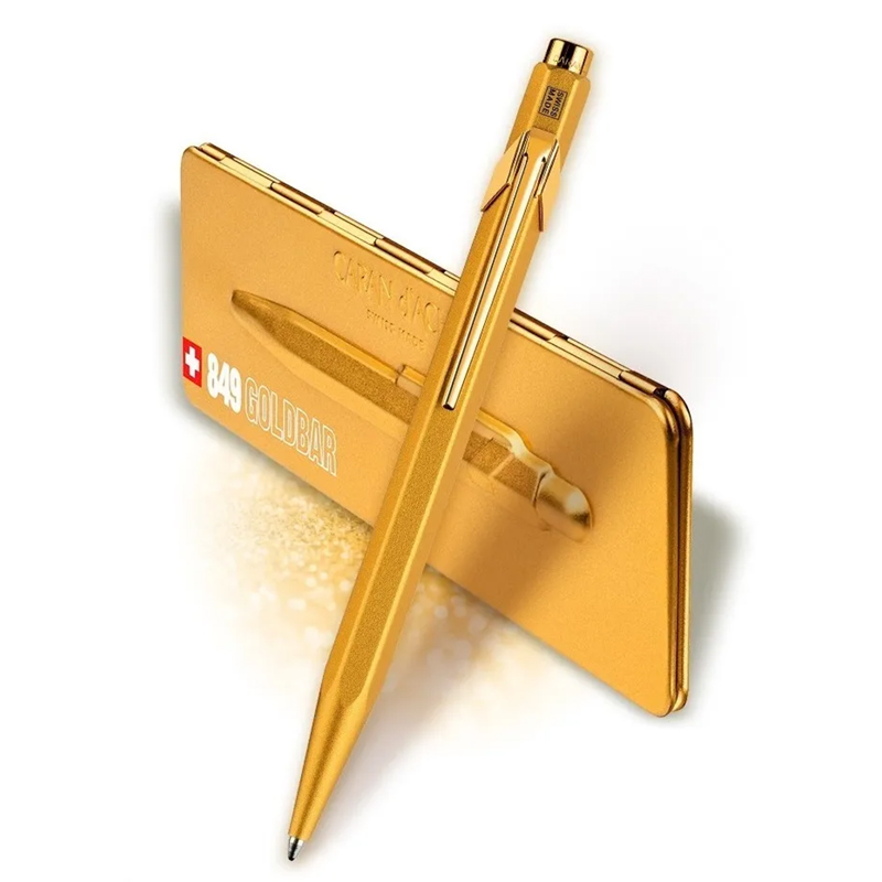 Caneta Caran D´Ache 849 Goldbar Esferográfica 849.999