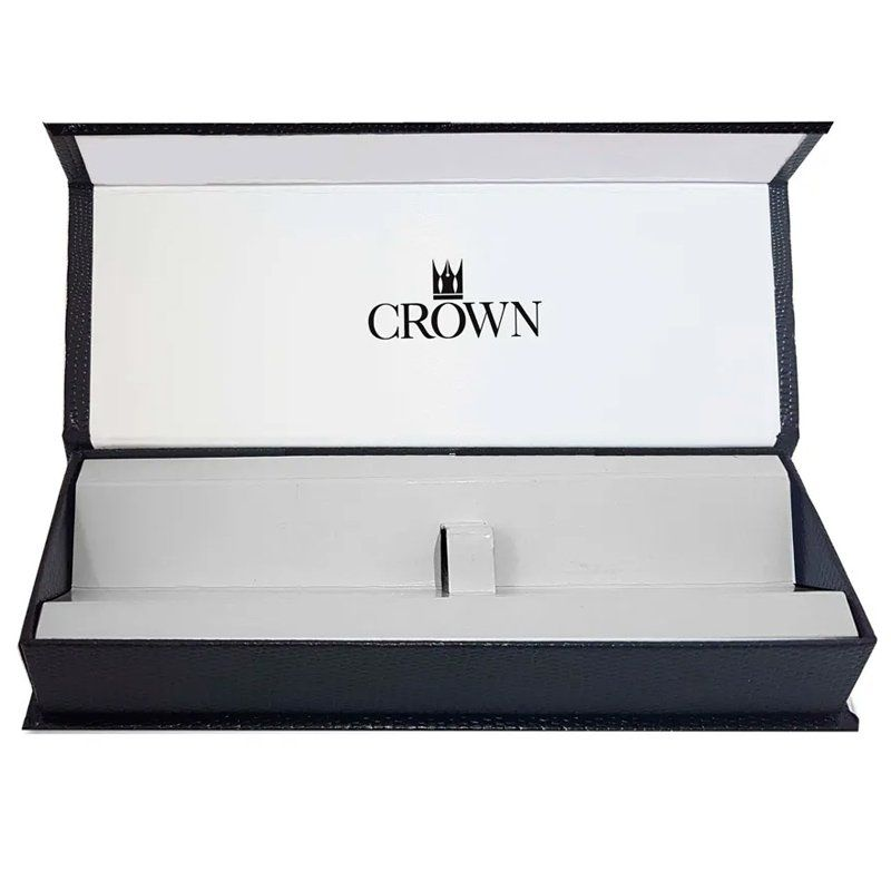 Caneta Crown Conquist Esferográfica Preta YW19400P