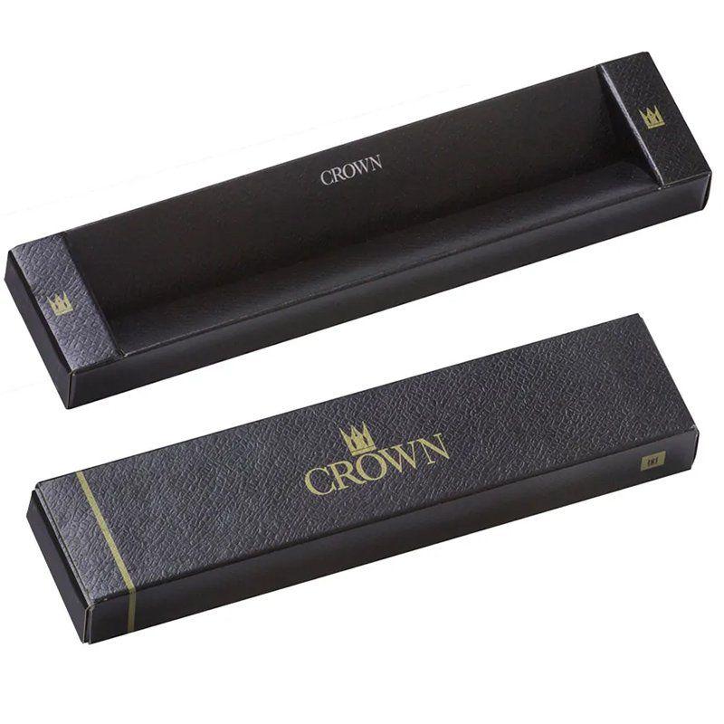 Caneta Crown Granada Esferográfica Preta e Cromada YW10064P