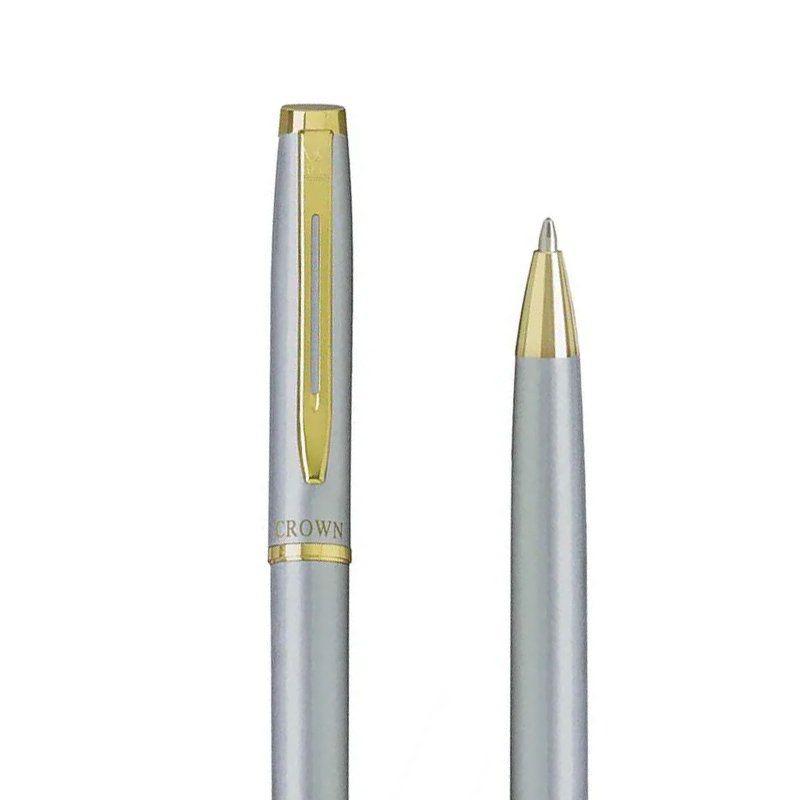 Caneta Crown Libra Gold Esferográfica Prata YW10078S