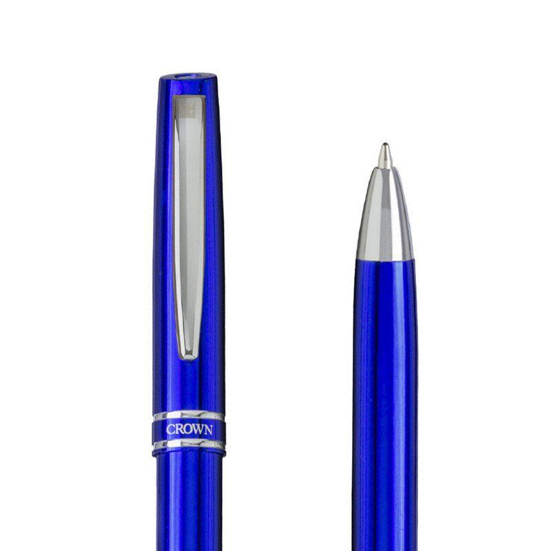 Caneta Crown Otawa Esferográfica Azul YW10076A