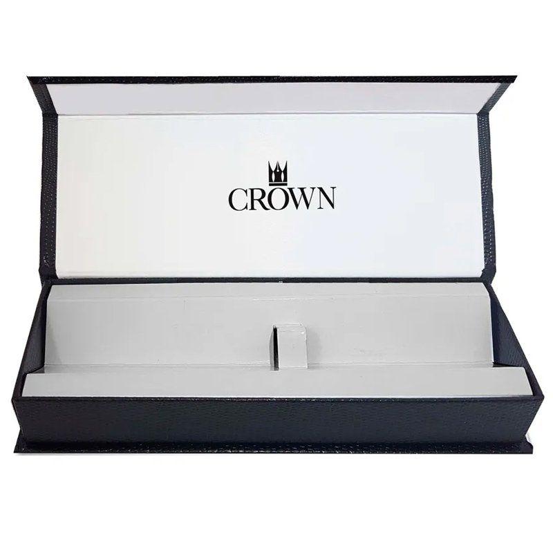 Caneta Crown President Esferográfica Cromada e Dourada YW19840S
