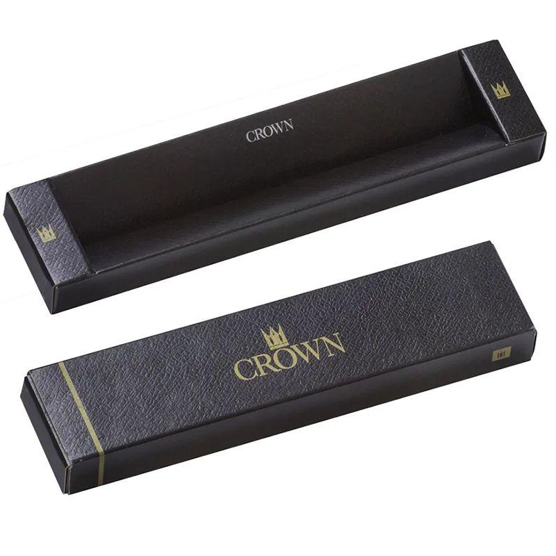 Caneta Crown Sigma Esferográfica Cromo Dourada YW10068S