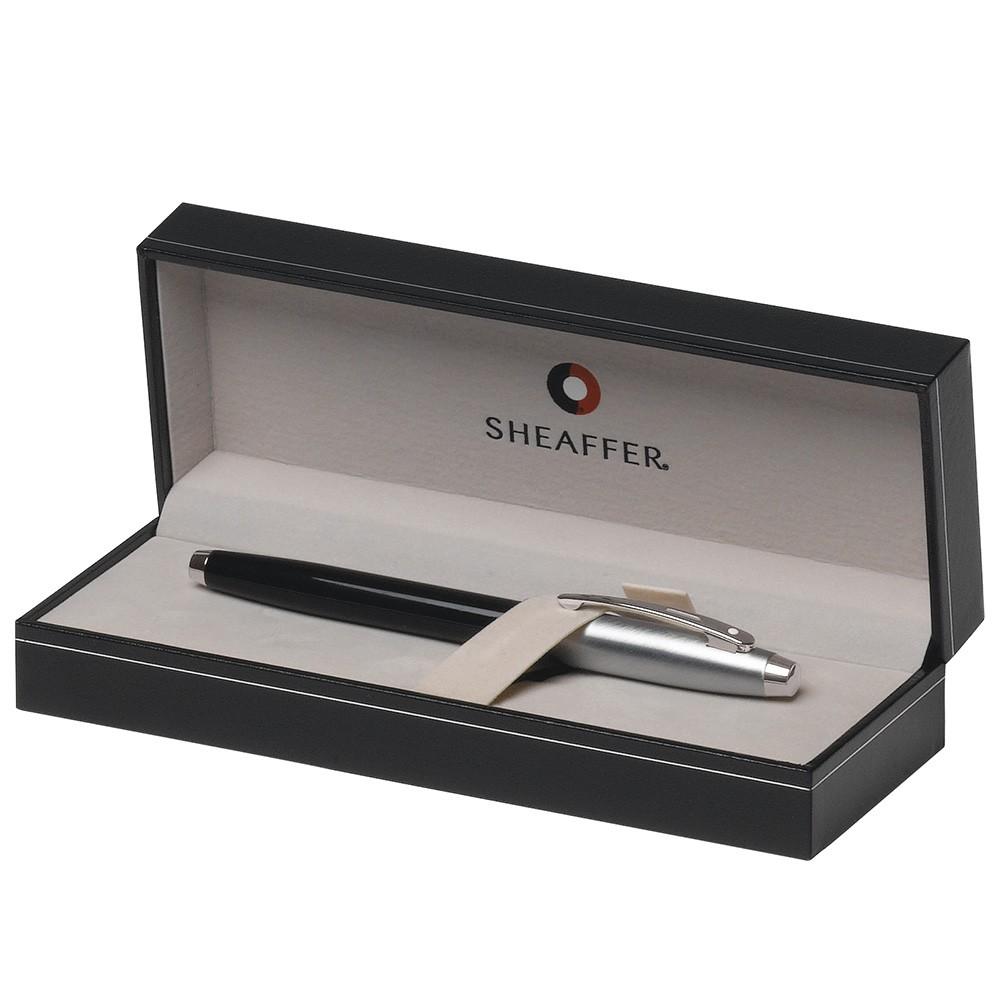 Caneta Sheaffer Gifty 100 Tinteiro Laca Preta com detalhes cromado E0931353-30