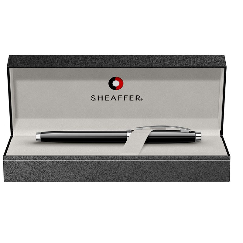 Caneta Sheaffer Gifty 100 Tinteiro Laca Preta com detalhes cromado E0933853-30