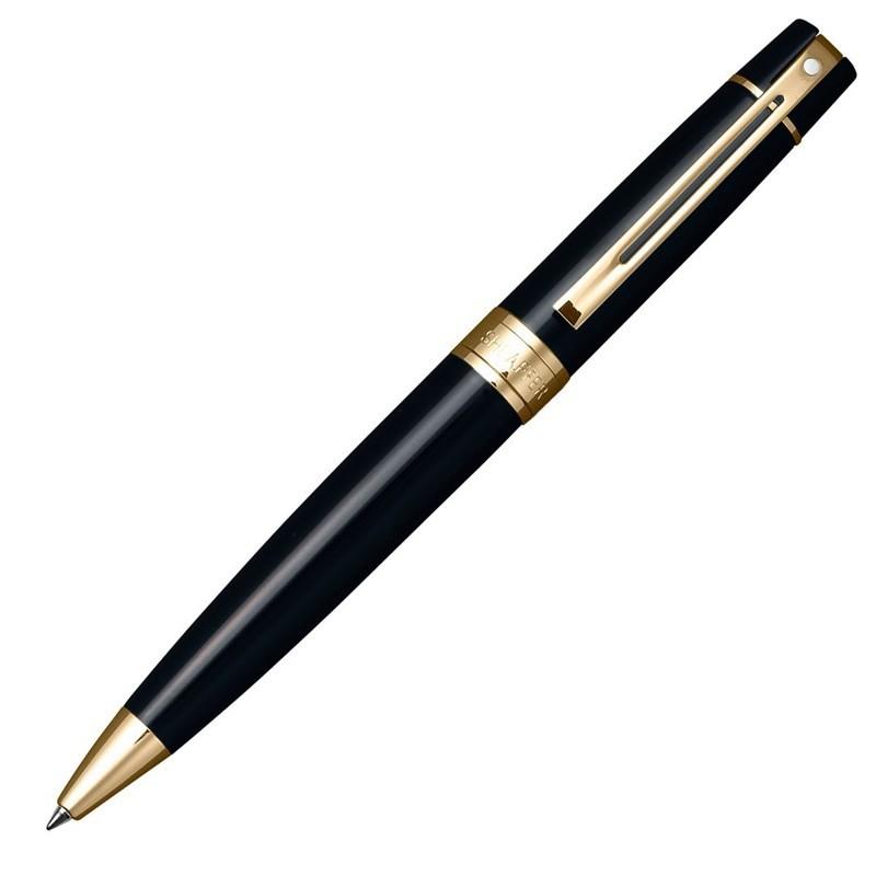 Caneta Sheaffer Gifty 300 Esferográfica Laca Preta e detalhes dourado E2932551