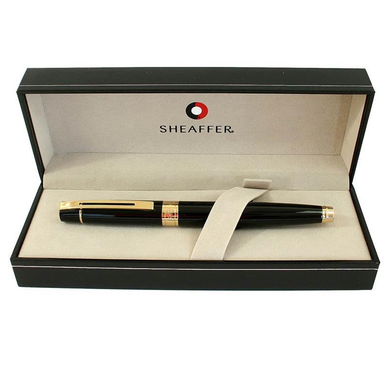 Caneta Sheaffer Gifty 300 Tinteiro Laca Preta e detalhes dourado E0932553