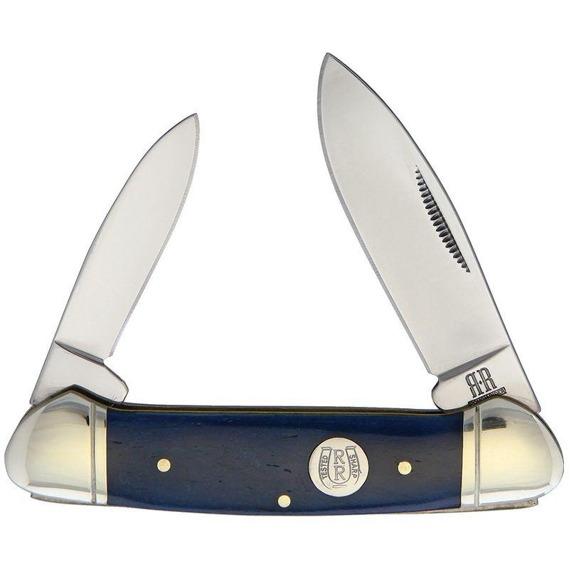 Canivete Rough Rider Canoe Blue  Bone 9.2 cm RR1949