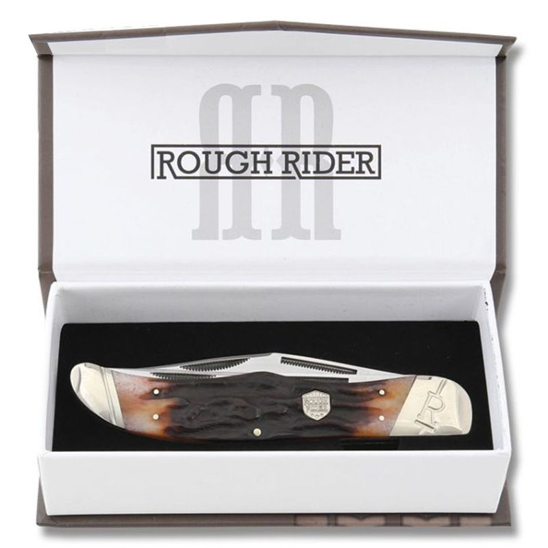 Canivete Rough Rider Folding Hunter Stag Bone 13,3 cm RR1804