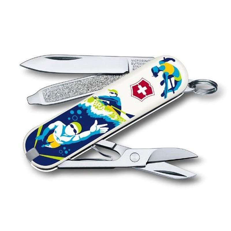 Canivete Victorinox Classic Esportes Rio de janeiro 7 funções 5.8 cm 0.6223.RIO9
