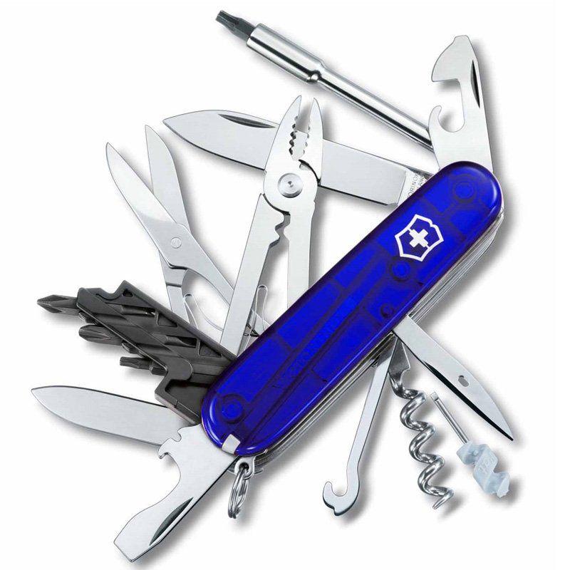 Canivete Victorinox Cyber Tool 34 funções azul translucido 9.1 cm 1.7725.T2