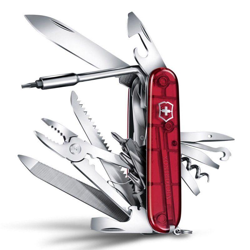 Canivete Victorinox Cyber Tool 39 funções vermelho translucido 9.1 cm 1.7775.T