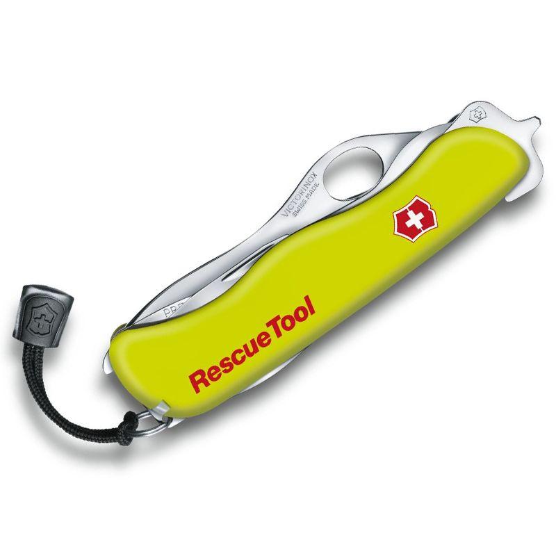 Canivete Victorinox Rescuetool fosforecente com bainha 12.2 cm 0.8623.MWN
