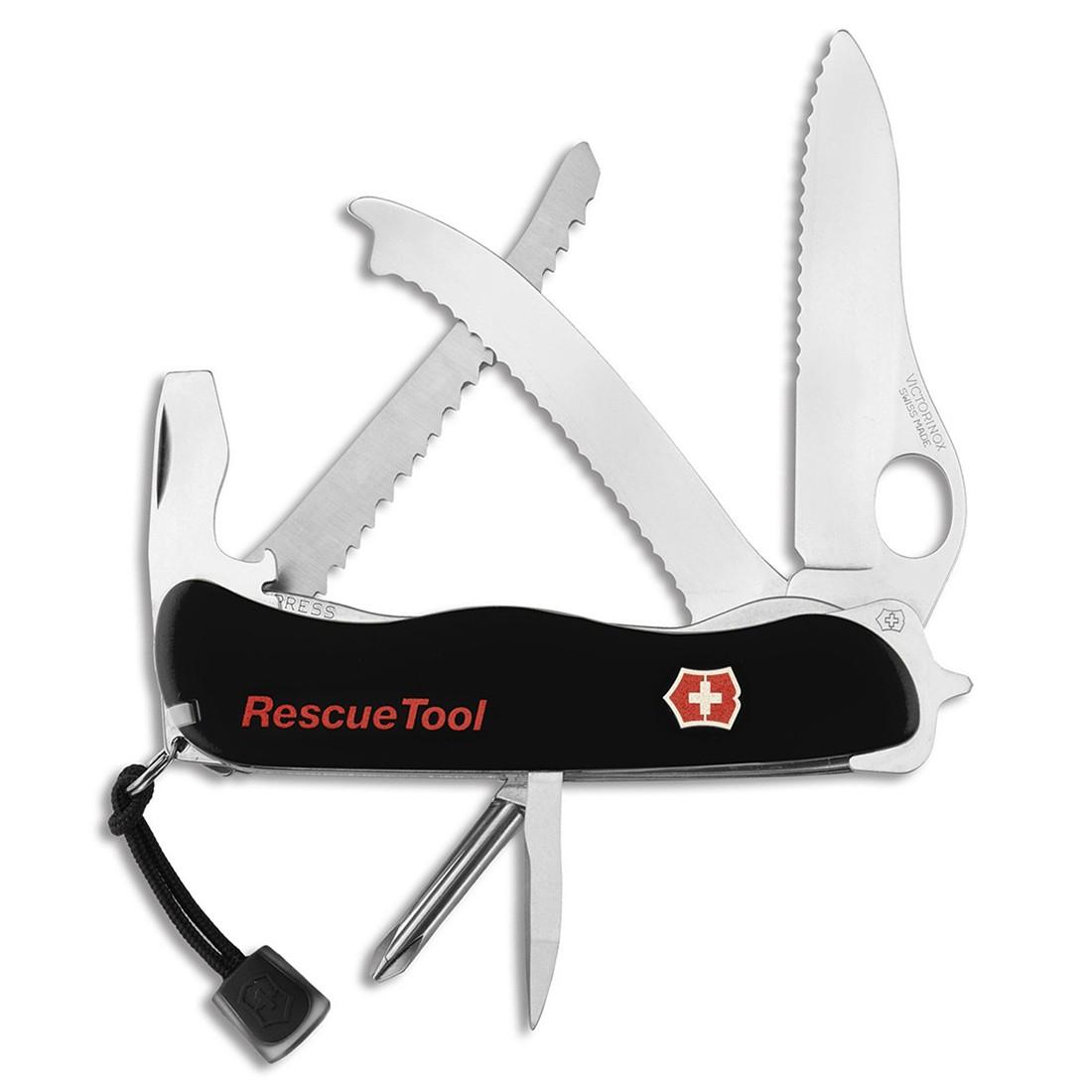 Canivete Victorinox Rescuetool preto com bainha 12.2 cm 0.8623.MWN.3R