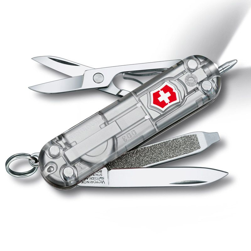 Canivete Victorinox Signature Lite 7 funções prata translucido 5.8 cm 0.6226.T7