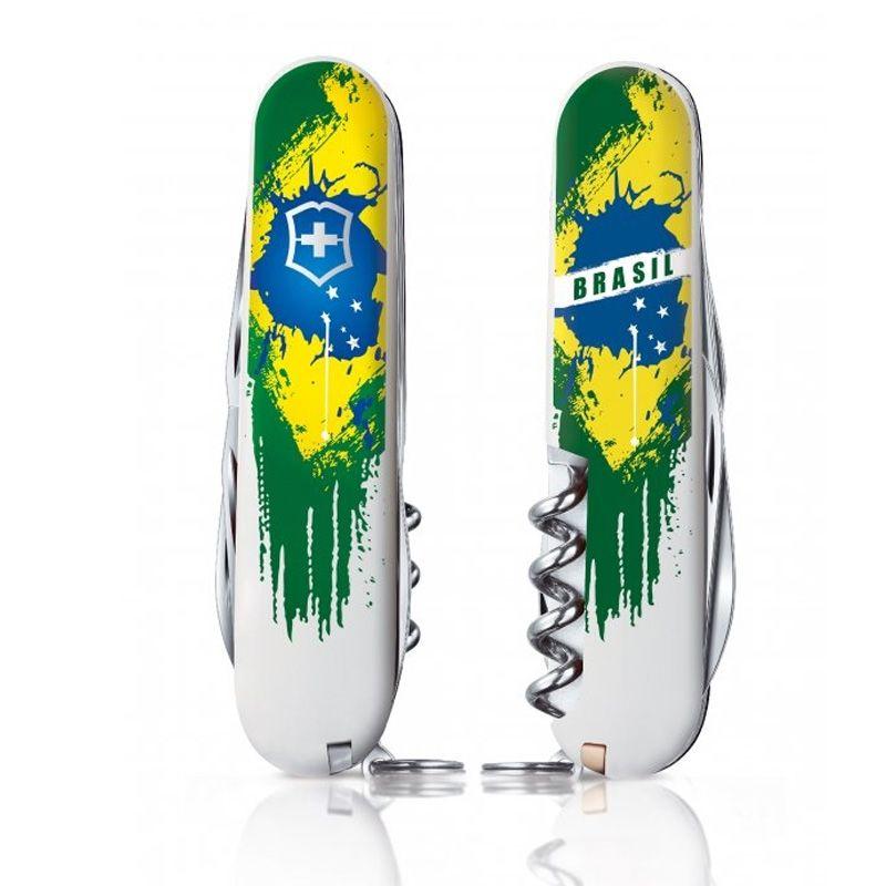 Canivete Victorinox Spartan Edição Limitada Pintura Brasil 12 funções 9.1 cm 1.3603.7BR3