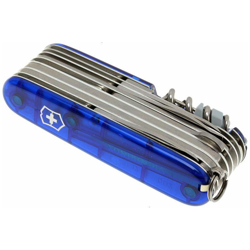 Canivete Victorinox Swisschamp azul translucido 33 funções  9.1 cm 1.6795.T2