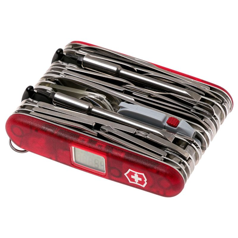 Canivete Victorinox SwissChamp XAVT 80 funções vermelho translucido 1.6795.XAVT