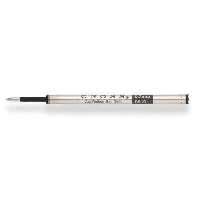 Carga Slim para caneta Cross em Gel Preta Rollerball 8910-1