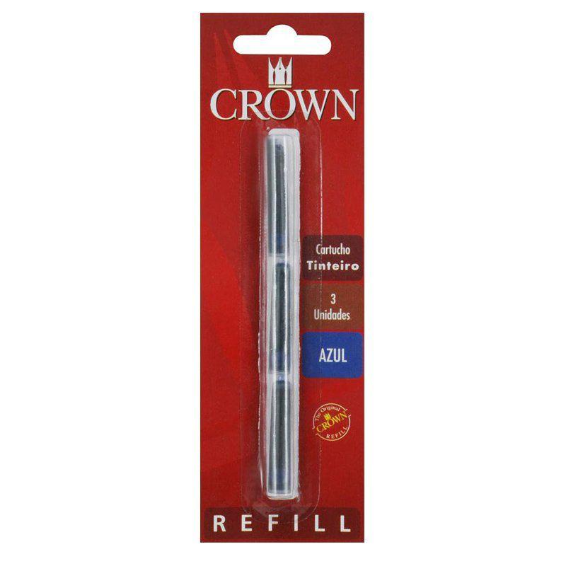 Cartucho para Caneta Tinteiro Crown Azul  CA32005A