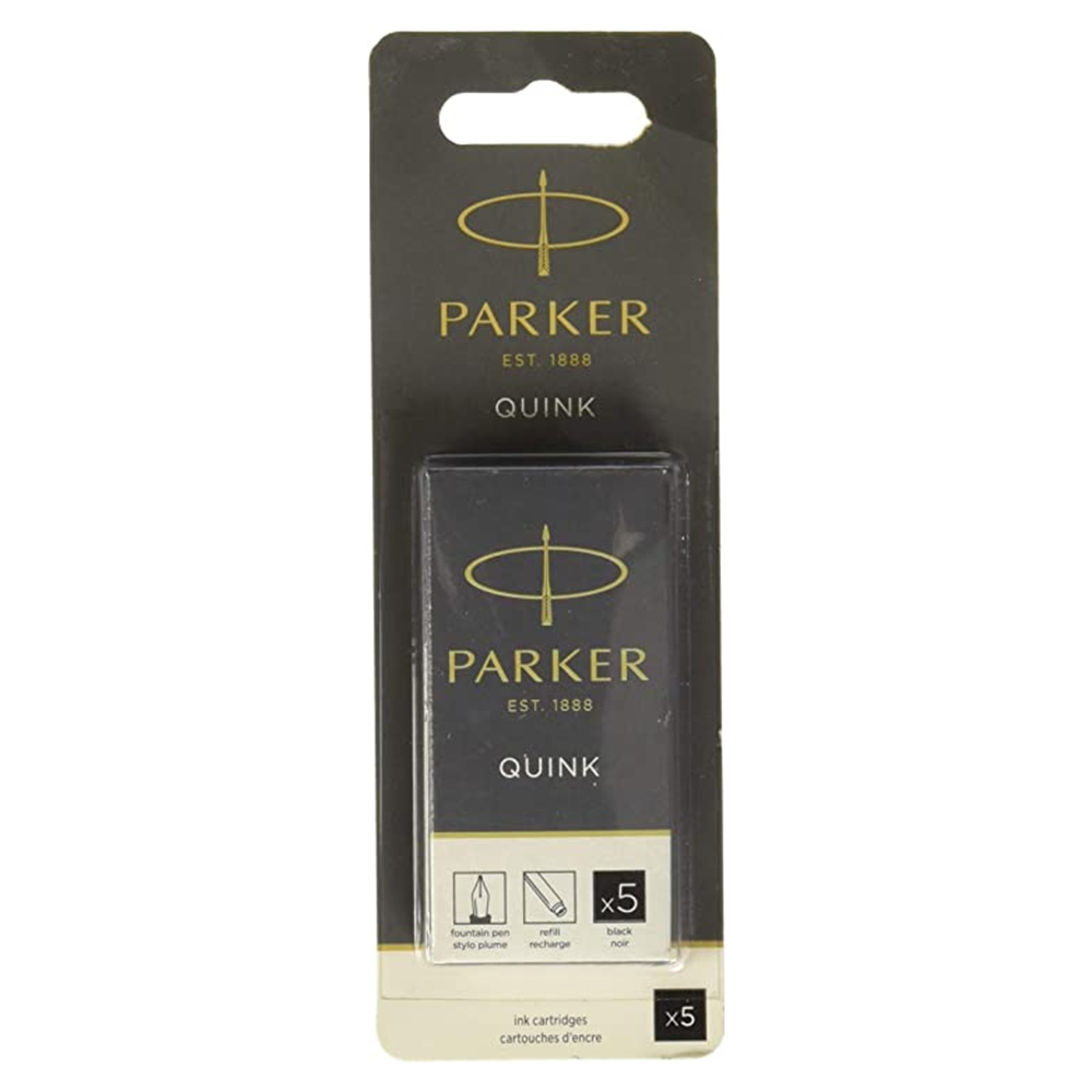 Cartucho Parker Quink Preto para caneta tinteiro 5 un 3011031PP *