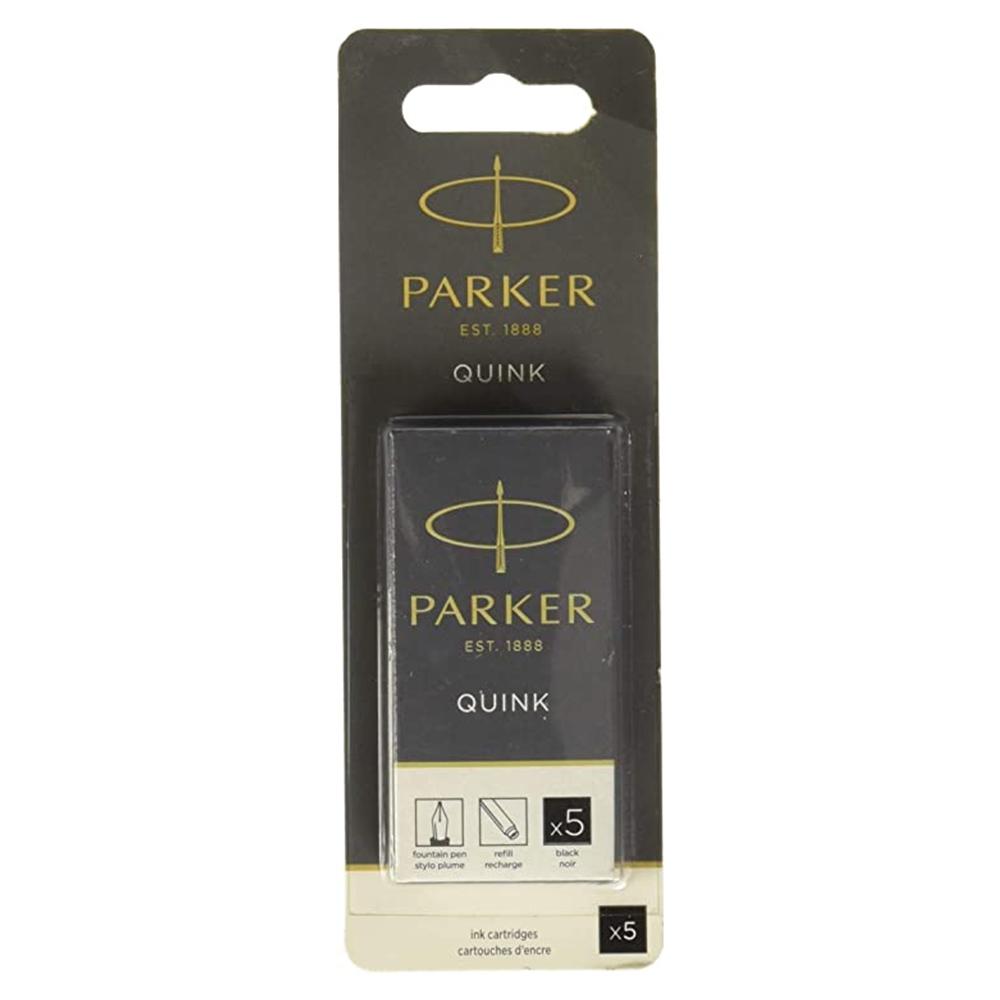 Cartucho Parker Quink Preto para caneta tinteiro 5 un 3011031PP